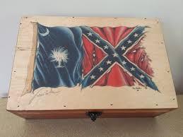 Flag Sc South Carolina Battle Flag Wooden Box