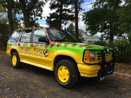 Ford Explorer Grill Guard - hunt velociraptors in your very own jurassic park jeep and