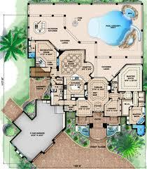 mediterranean style floor plans mediterranean style house plan 4 beds 4 50 baths 5049 sq ft plan