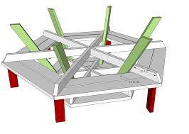 hexagonal picnic table plans outdoor patio tables ideas
