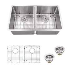 Brushed Stainless Steel Kitchen Sinks Kitchen The Home Depot - Brushed stainless steel kitchen sinks