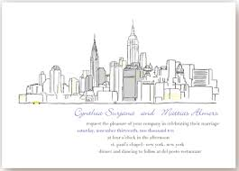 wedding invitations nyc nyc skyline exquisite affairs productions inc