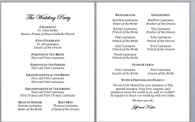 catholic mass wedding programs spirals spatulas catholic wedding program