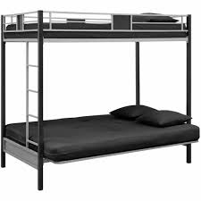 Dorel DHP Silver Screen Twin Over Futon Metal Bunk Bed Silver - Futon bunk bed frame