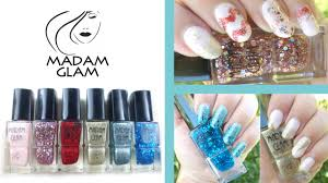 3 nail designs 1 brand madam glam vegan nail polish review youtube