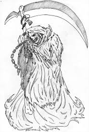 coloring pages marvelous draw reaper grim 5