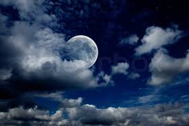 sky with the moon clouds and stock photo colourbox