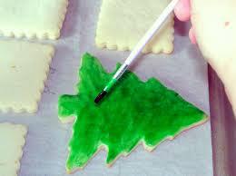 my little bakery christmas tree cookies and polish glaze