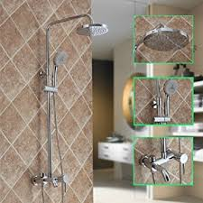 wall mount exposed design solid brass bathroom rain shower faucet