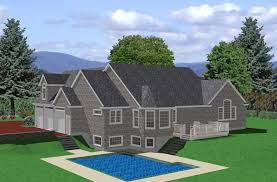 House Plans For Sloping Lots Ranch House Plan Sloped Lot Traditional Architecture Plans 81132