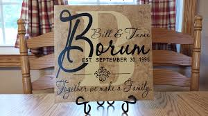 personalize wedding gifts personalized anniversary gift o reilly tiles