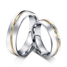 verlobungsring f r sie cz diamant hochzeit ring für frauen männer 316l edelstahl liebe