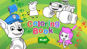 nick jr halloween coloring pages nick jr coloring book for kids youtube