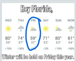 Florida Winter Meme - winter in florida http lolsalot com winter in florida funny pic