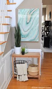 Entryway Baskets Fresh Entryway Makeover Using Silk Plants Made In A Day