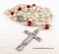 diy rosary catholic patron saints the redeemer sacred heart rosary