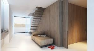 home design simple floating staircase attached to wooden wall