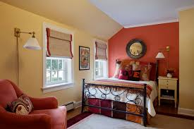 Eclectic Bedroom Design Eclectic Bedroom Design With Red Color And Yellow Colors Home