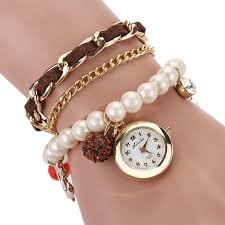ladies pearl bracelet watches images Ravishing pearl watch bracelet jpg