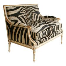 Zebra Accent Chair Fabulous Louis Xvi Giltwood Settee With Zebra Upholstery