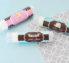 lip balm favors personalized baby shower lip balm favors gift baskets