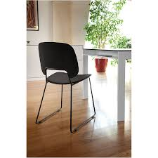 Contemporary Dining Chairs Modern Dining Chairs Trajan Black Sled Chair Eurway