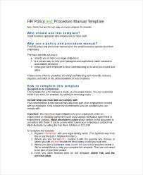 hr policy template 7 free word excel pdf documents download