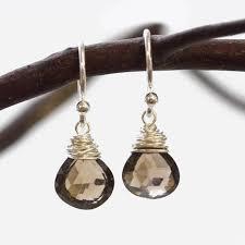 smoky quartz earrings smoky quartz wire earrings wallin buerkle