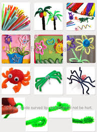 ncurly chenille stem craft wire pipe cleaners children diy toys