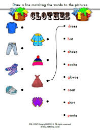 clothes activities games and worksheets for kids