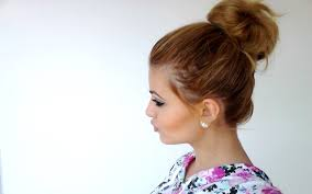 how to big messy bun for short hair youtube
