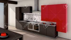 a modern kitchen interior made in 3d stock photo picture and