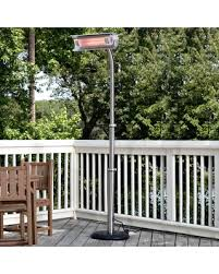 fire sense stainless steel patio heater with adjustable table deal alert fire sense stainless steel telescoping pole mounted
