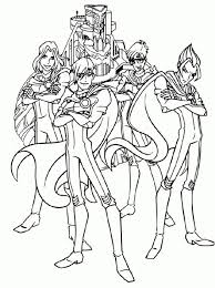 22 winx club coloring pages images coloring