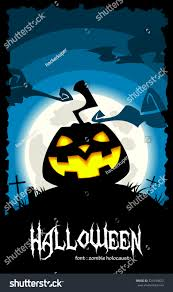 vector creepy halloween background laughing evil stock vector
