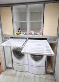 Pull Out Laundry Cabinet Omg I Love That Drying Rack Drawer Laundry Room Cabinet Ideas