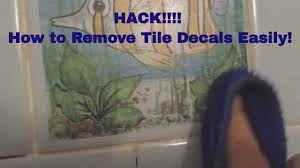 top hack how to easily remove tile decals stickers from
