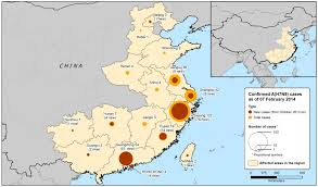 Map Of China And Taiwan by Epidemiological Update A H7n9 Influenza 6 February 2014