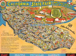 State Map Of California by Citydig This 1941 Map Shows Off The California State Fair U0027s
