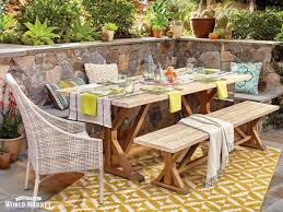 Farmhouse Patio Table by 241 Best Outdoor Entertaining U0026 Decor Images On Pinterest
