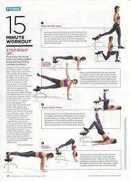 Leg Raise On Bench Women U0027s Health 15 Minute Workout U2014 B3 Wellness