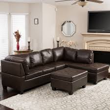 Section Sofa Best Selling Home Evan 3 Leather Sectional Sofa Walmart