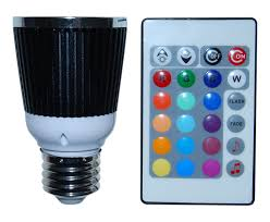 240 Volt Led Light Bulbs by Sound Activated 15 Color Led Light Bulb And Remote