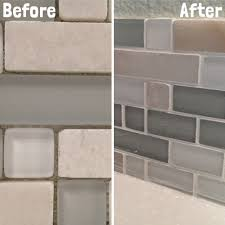 DIY Kitchen Backsplash Part  Grouting Backsplash Tiles - Diy kitchen backsplash tile