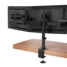 vonhaus triple arm monitor mount for 13 27 u201d screens computer stand