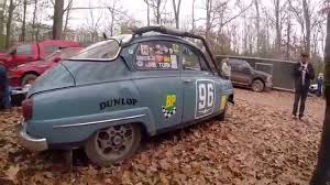 classic saab classic 1961 saab 96 rally car at espr 2015 youtube