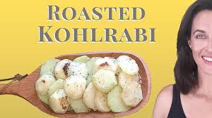 A Root Vegetable - roasted kohlrabi cooking demo how to cook kohlrabi a root
