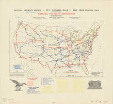 Louisiana Highway Map National Highways System Proposed In 1913 World Digital Library