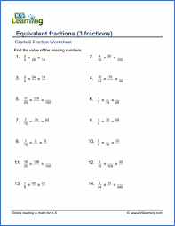 grade 6 simplifying and converting fractions worksheets free