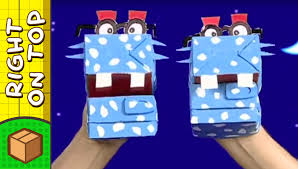 crafts ideas for kids cardboard hand puppet diy on boxyourself